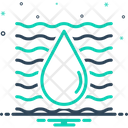 Water Aqua Riverine Icon