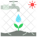 Water Stress Irrigation Icon