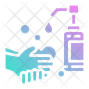 Water Wash Hand Icon