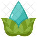 Water Leaf Sustainability Icon