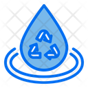 Water Drop Recycle Icon
