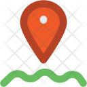 Water Navigation Location Icon