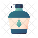 Water Bottle Canteen Adventure Camp Icon