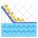 Water Coaster Ride Water Park Icon