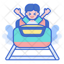 Water Coaster Roller Coaster Coaster Slide Icon