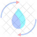 Water Cycle Recycle Water Rain Icon