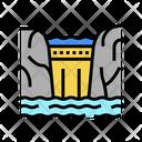 Dam Water Storage Purifying Icon