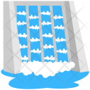 Water Dam Hydropower Icon