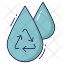 Water Drop Dustbin Recycle Icon