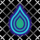 Waterdrop Contour White Icon