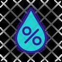 Waterdrop Aqua Contour Icon