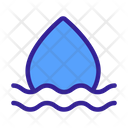 Waterdrop Linear Art Icon