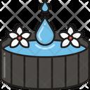 Water Dropbathtub Tub Pond Icon