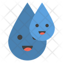 Water Drops Emoji Icon
