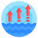 Water Level Up High Water Level Up Level Icon