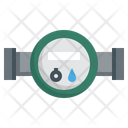 Water Meter Pipe Plumbing Icon