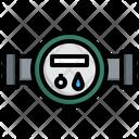 Water Meter Pipe Plumbing Icon