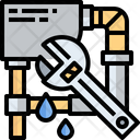 Water Pipe Plumbing Tool Plumbing Equipment Icon