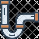Pipe Drain Construction Icon