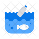 Ocean Waste Pollution Icon