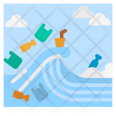 Plastic Wave Garbage Icon