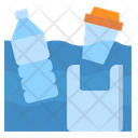 Garbage Pollution Water Icon