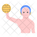 Sports Man Water Polo Athlete Icon