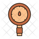 Water Pressure Gauge Meter Icon