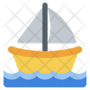 Water Rafting Boat Icon