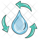 Water Recycling Water Reuse Purified Water Icon