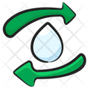 Water Recycling Water Reuse Water Reprocess Icon