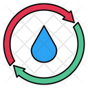Water Drop Reuse Icon