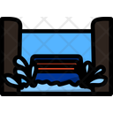 Water Roller Coaster Ride Coaster Icon