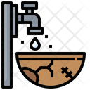 Water Scarcity Shortage Water Drop Icon