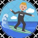 Sports Skating Water Skating Icon