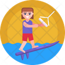 Water Sports Water Skiing Icon