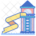 Water Slide Water Park Fun Park Icon