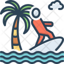 Kitesurfer Acrobatic Adventure Icon
