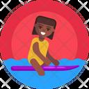 Water Sports Wake Boarding Watercraft Icon