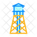 Water Tower Color Icon