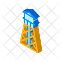 Water Tower Isometric Icon
