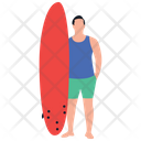 Water Surfing Icon