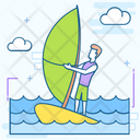Surfboard Water Surfing Skateboard Icon