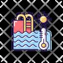 Water Temperature Swim Icon
