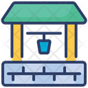 Water Well Farm Village Icon