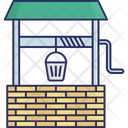 Cartoon Well Water Plant Water Well Icon