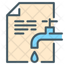Waterbill Leaking Water Leakage Icon