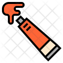 Watercolor Tube Icon