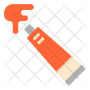 Watercolor Tube Stationery Icon