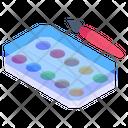 Color Box Watercolors Aquarelle Icon